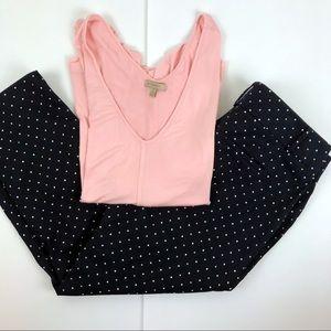 Ann Taylor Factory polka dot crop pants